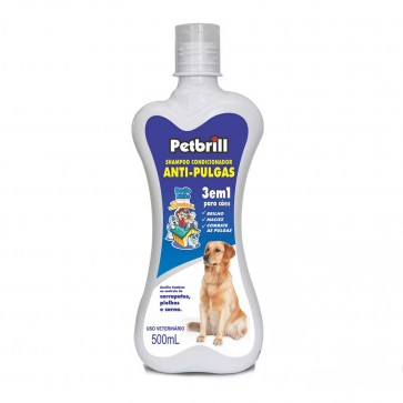 PET - Shampoo Condicionador Anti-Pulgas 3 em 1 para Cães 500 ml Petbrill